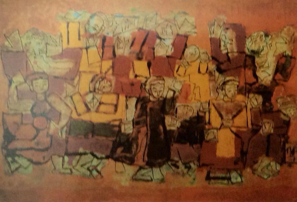 Tác phẩm Điệu múa cổ của danh họa Nguyễn Tư Nghiêm. Ảnh: TKC.