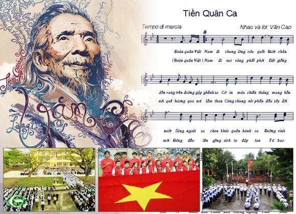 Tiến quân ca đã sống cùng dân tộc Việt Nam 70 năm qua. Ảnh: TL.