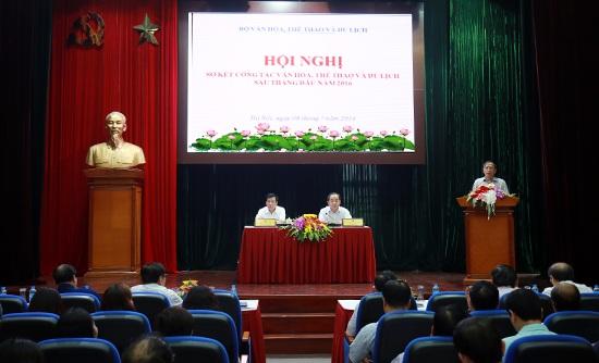 Toàn cảnh hội nghị sơ kết với sự tham gia của rất nhiều đại diện Sở VH,TT&DL các tỉnh.