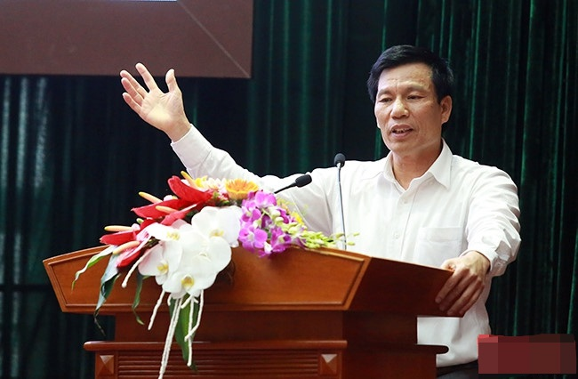 Bộ trưởng Nguyễn Ngọc Thiện phát biểu tại sự kiện Sơ kết công tác Văn hoá, Thể thao & Du lịch 6 tháng đầu năm 2016 tại Hà Nội sáng nay. Ảnh: H.G
