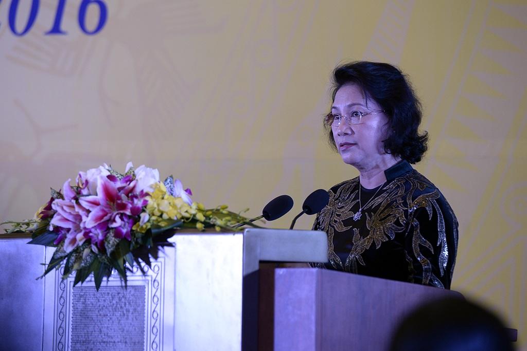 Chủ tịch Quốc hội Nguyễn Thị Kim Ngân phát biểu tại sự kiện.