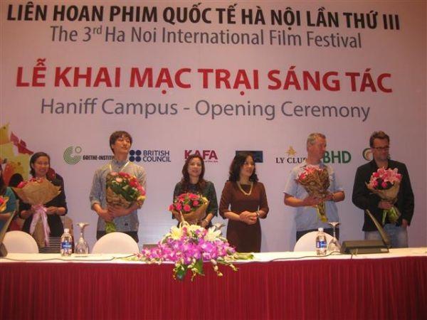 Lễ khai mạc Trại sáng tác LHP Quốc tế Hà Nội III. Ảnh: TL.