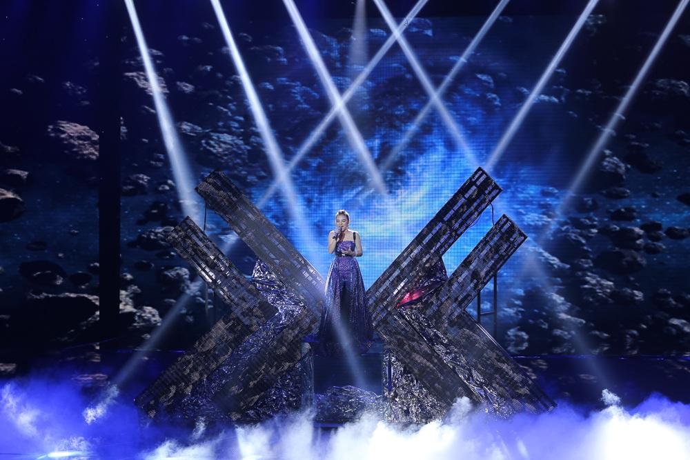 Phần biểu diễn của thí sinh 17 tuổi Minh Như. Ảnh: CTS.