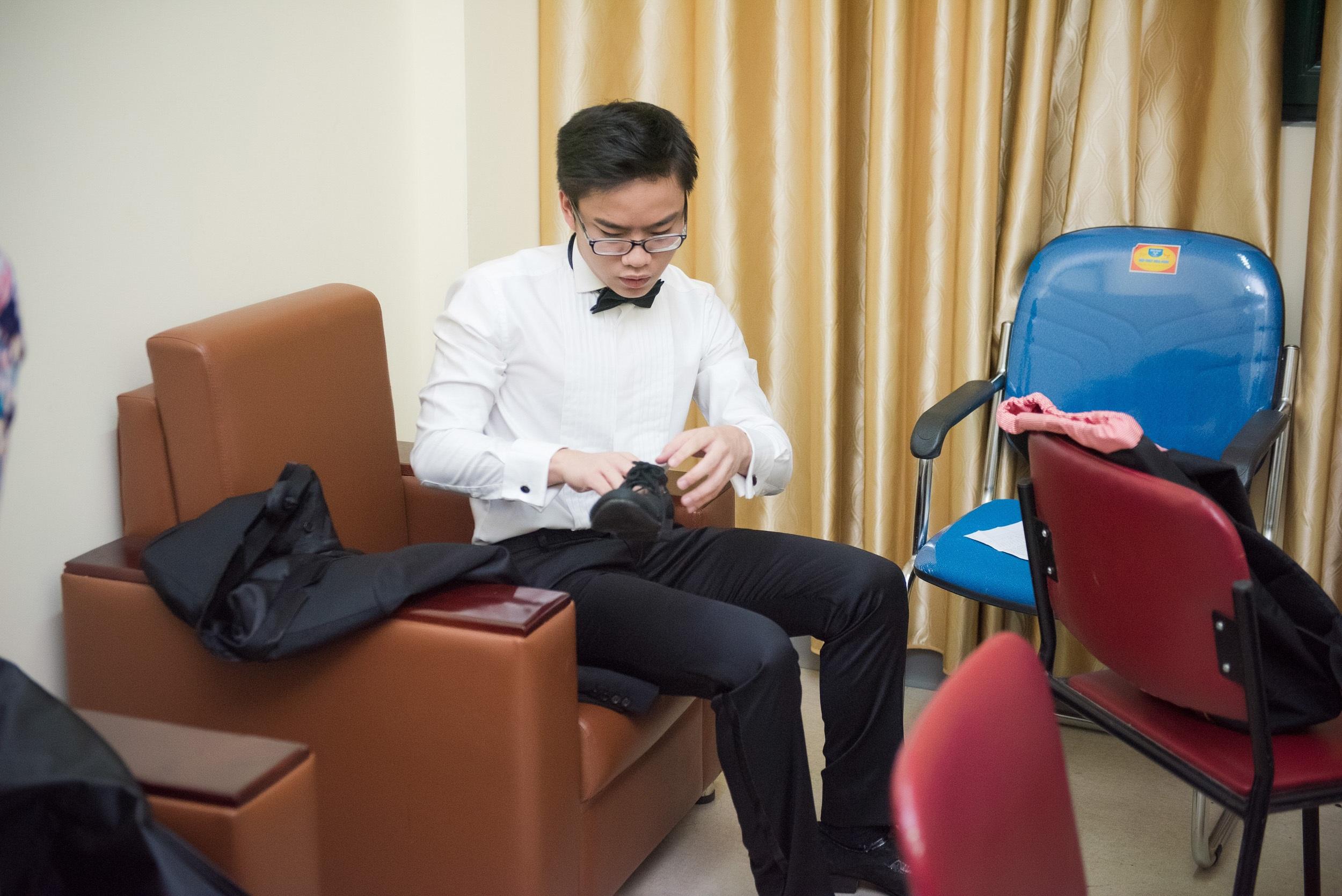 """Hoa hậu Thùy Linh đi xem """"thần đồng"""" Piano Nguyễn Việt Trung biểu diễn - 5"""