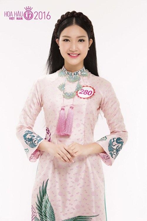 Thí sinh Lê Trần Ngọc Trân được nhiều người xem là nàng thơ xứ Huế.