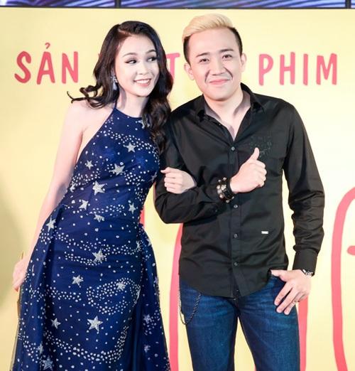 Những hình ảnh của Trấn Thành tại buổi ra mắt phim ở TPHCM tối 29/8.
