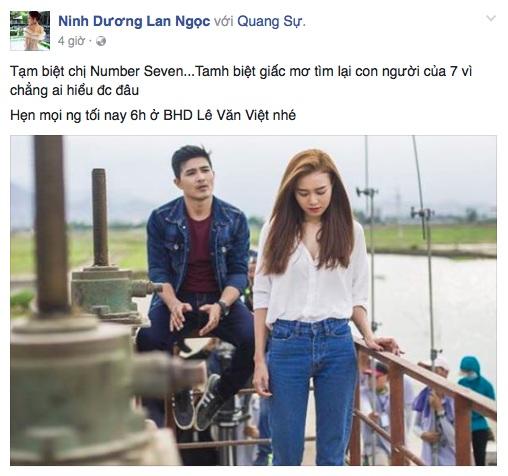 Ninh Dương Lan Ngọc bày tỏ sự hoang mang trên trang cá nhân. Ảnh: FBNV.