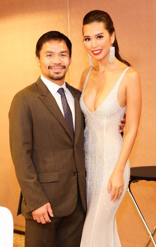 Siêu mẫu Hà Anh gợi cảm ngang Hoa hậu Hoàn vũ 2005 Natalie Glebova - 10