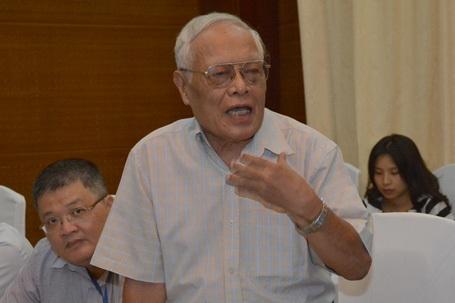 Giáo sư Phong Lê, Phó Chủ tịch Hội Kiều học Việt Nam phát biểu tại cuộc họp
