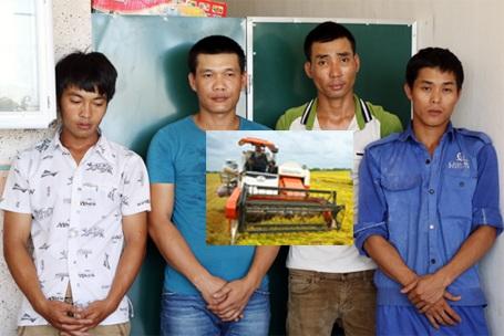 4 đối tượng bị Công an huyện Kỳ Anh khởi tố, bắt tạm giam vì dùng vũ lực uy hiếp, buộc nông dân phải nộp tiền cho chúng. Đây là lí do nông dân tại địa phương đang phải chịu mức giá gặt lúa cao ngất ngưởng.
