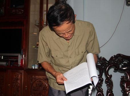 Bức thư của ông Sáu viết từ Lào đã gây xôn xao quê nhà ông Uy thời điểm đó.