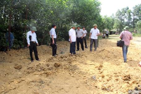 Chiều nay 12/7, khi đoàn liên ngành của tỉnh Hà Tĩnh tiến hành kiểm tra đã được san ủi, chôn lấp để xóa dấu vết.