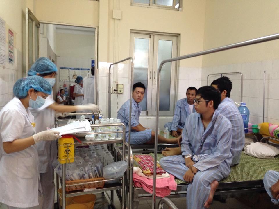 Bệnh nhân điều trị SXH tại BV Bệnh nhiệt đới Trung ương. Ảnh: H.Hải