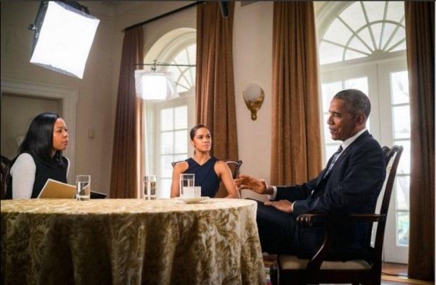 Tổng thống Obama tham gia phỏng vấn của Time. (Ảnh: Hello Beautiful)