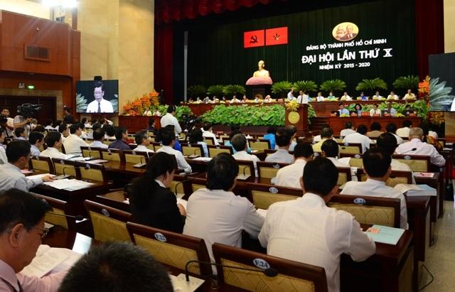 Ngày 17/10, Đại hội Đại biểu Đảng bộ TPHCM lần thứ X đã bế mạc sau 4 ngày làm việc (ảnh: Ban Tuyên giáo Thành ủy TPHCM)