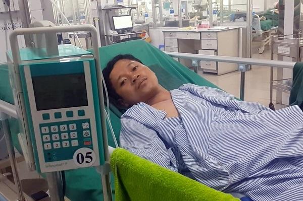 Anh Thái đang được điều trị tích cực tại khoa Hồi sức tích cực - chống độc, Bệnh viện đa khoa Thống Nhất Đồng Nai.