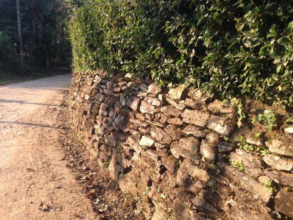 Những hòn đá không hề đục đẽo nhưng bám khít vào nhau chắc chắn, vững chãi qua bao mùa nắng gió.