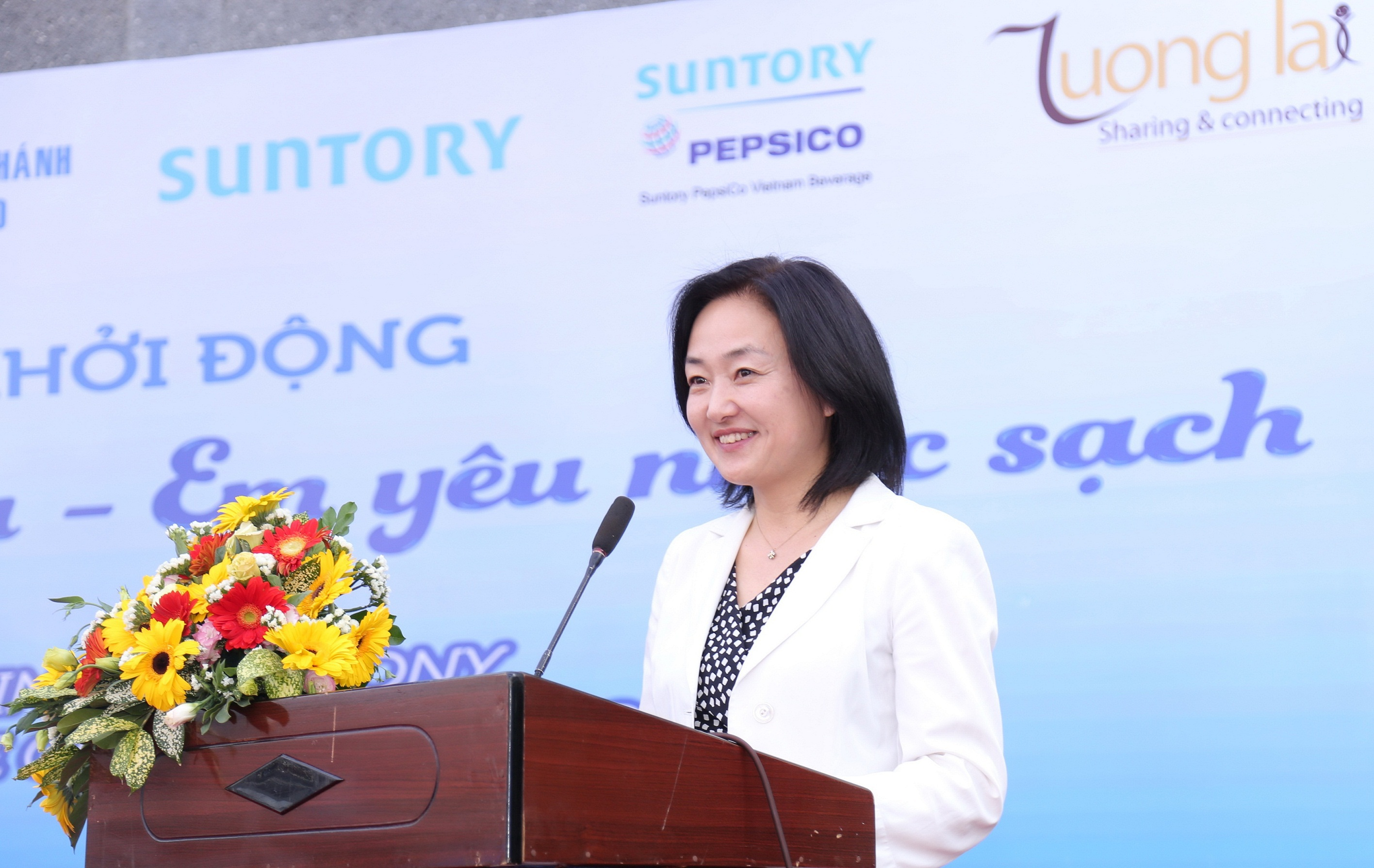 Bà Tomomi Fukumoto, Phó Giám đốc Điều hành, Bộ phận truyền thông doanh nghiệp – Tập đoàn Suntory cho biết dự án sẽ có nhiều nội dung đổi mới trong năm 2016