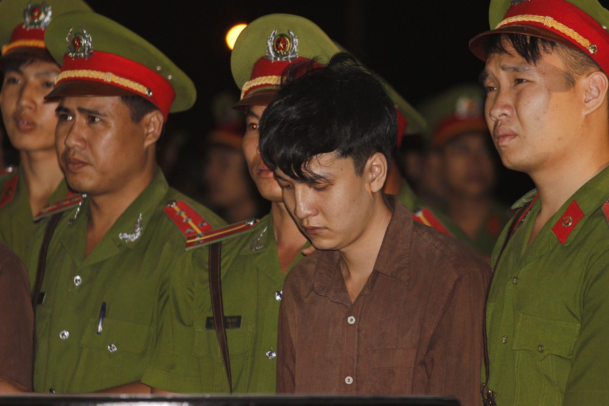 Bị cáo Hải Dương tại phiên xét xử sơ thẩm lưu động tại Bình Phước.