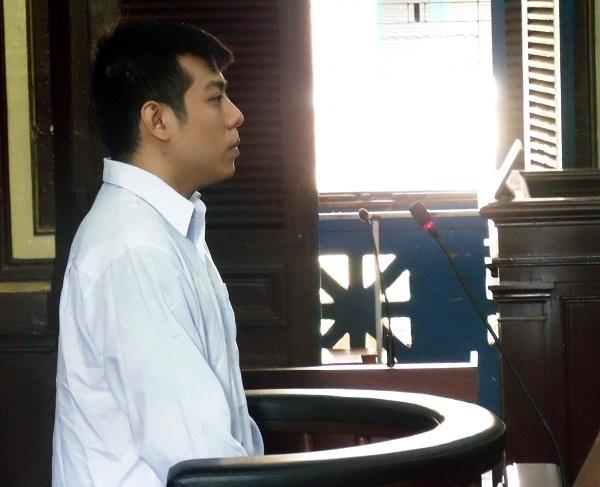 Bị cáo Hoàng Long Sơn tại phiên tòa xét xử ngày 6/4