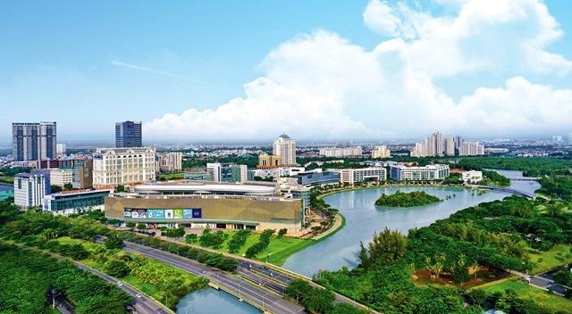 Khu Thương mại Tài chính Quốc tế và Khu The Crescent được xem là trái tim đô thị với sự quy tụ của các cao ốc, văn phòng của khoảng 100 công ty đa quốc gia, tổ chức tài chính quốc tế đang hoạt động như Unilever, Parkson Paragon, HSBC…