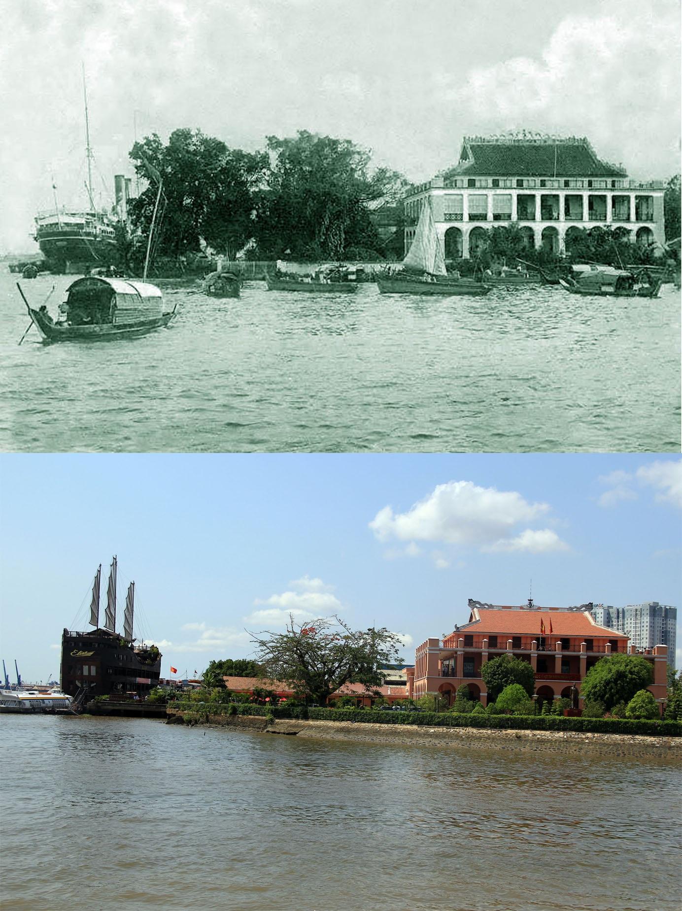 Bến Nhà Rồng, nay là Bảo tàng Hồ Chí Minh tại TPHCM. Khởi đầu đây là một thương cảng lớn của Sài Gòn, được xây dựng từ năm 1862. Năm 1864, ngôi nhà Rồng này được hoàn thành. Tại nơi đây, vào ngày 5/6/1911, người thanh niên Nguyễn Tất Thành đã xuống con tàu Amiral Latouche Tréville làm phụ bếp để có điều kiện sang châu Âu. Do đó, từ sau 1975, toà nhà này trở thành khu lưu niệm Hồ Chí Minh..