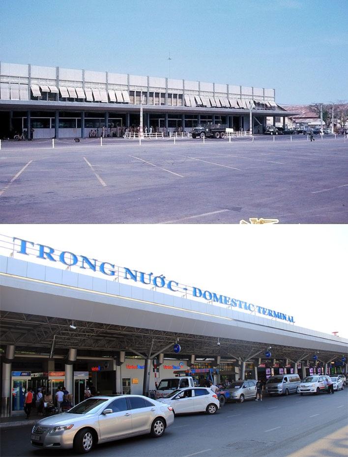 Sân bay Tân Sơn Nhất được xây dựng vào năm, thực hiện chuyến bay đầu tiên từ Paris đến Sài Gòn vào năm 1933, chuyến bay này kéo dài 18 ngày. Trước đây, tòa nhà ga quốc nội vốn là ga quốc tế. Sau này, ga quốc tế mới được xây dựng thì toàn bộ nhà ga quốc tế cũ được chuyển thành nhà ga quốc nội như hiện nay.