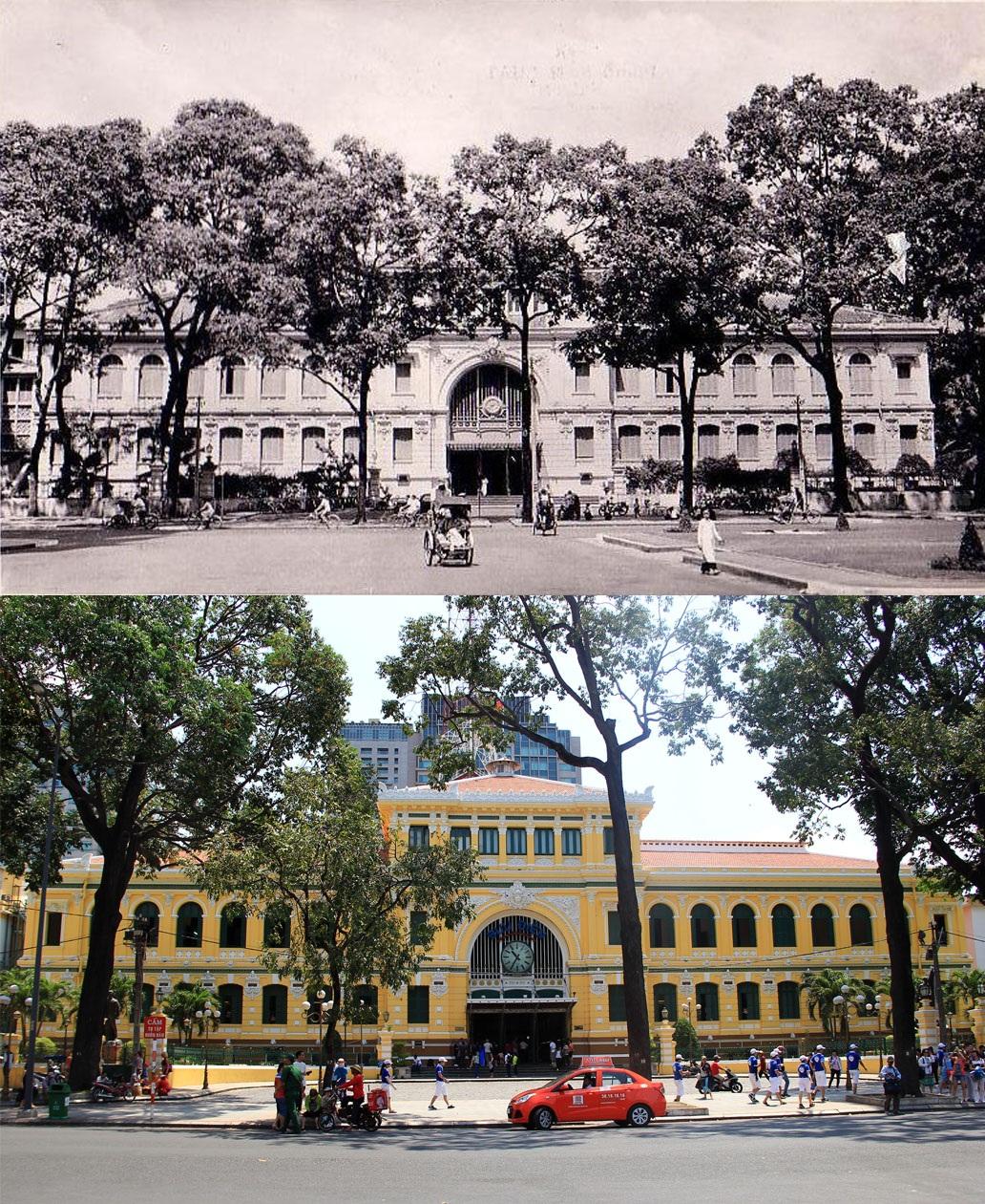 Tòa nhà Bưu điện Thành phố là một trong những công trình kiến trúc tiêu biểu tại TPHCM, nằm cạnh nhà thờ Đức Bà. Tòa nhà này được người Pháp xây dựng với phong cách đậm chất châu Âu trong khoảng thời gian 1886–1891, chỉ sau nhà thờ Đức Bà chừng 10 năm.