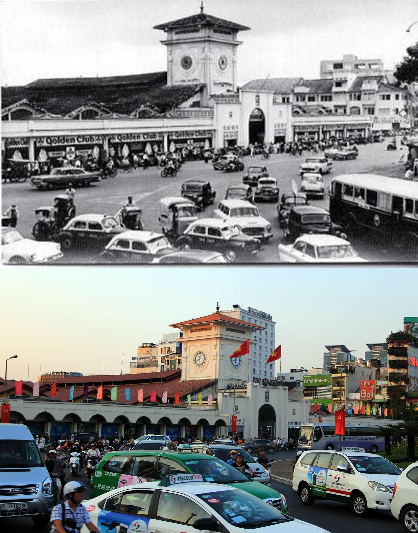 Chợ Bến Thành là một trong những địa điểm tiêu biểu của TPHCM. Chợ Bến Thành xưa vốn nằm bên bờ sông Bến Nghé. Sau chợ cũ bị hủy hoại nên đến năm 1912, người Pháp xây dựng chợ mới tại vị trí hiện nay. Đến năm 1914, chợ hoàn tất và đi vào sử dụng, tồn tại đến nay.