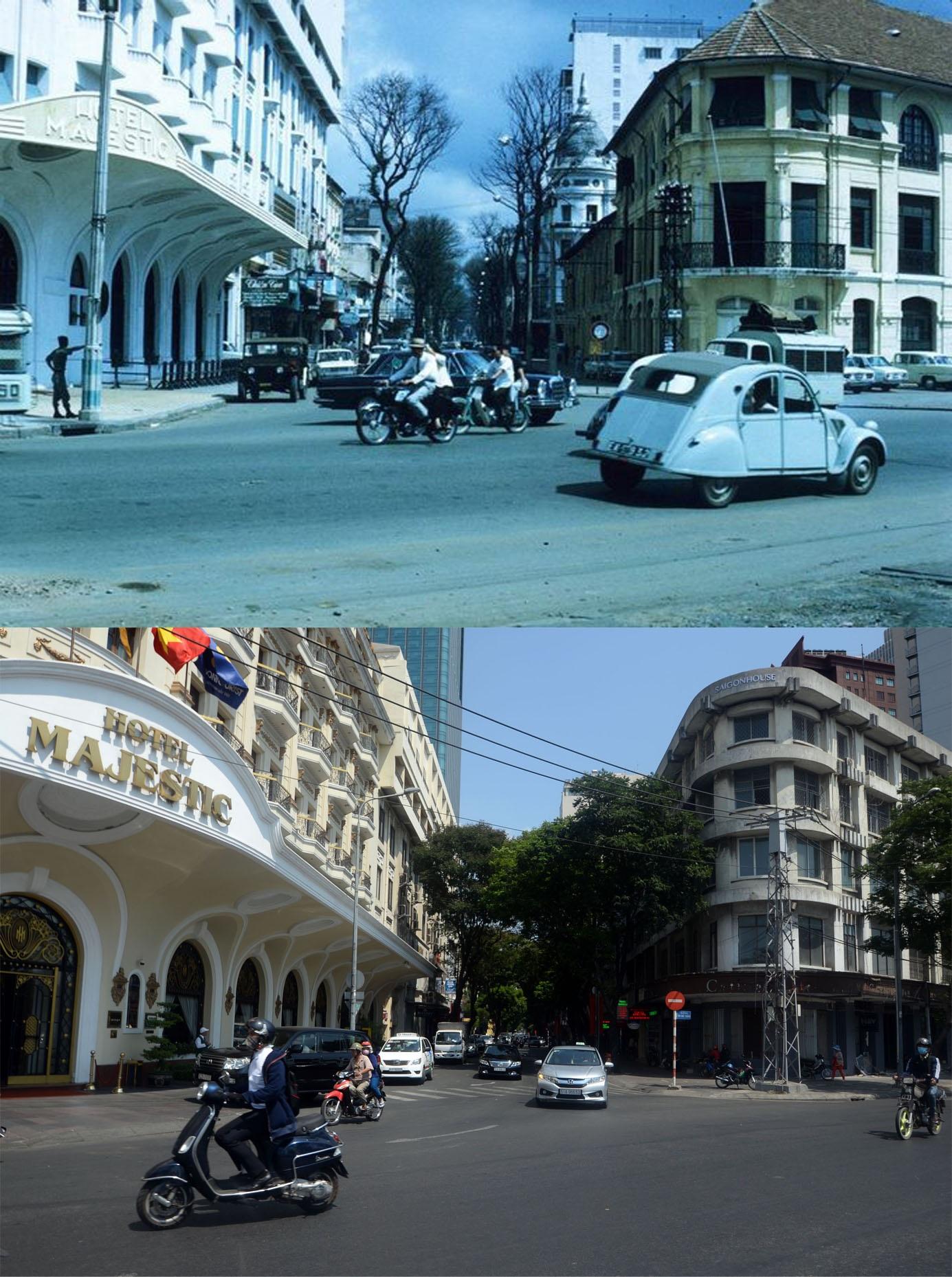 Khách sạn Majestic lúc mới xây dựng là một biểu tượng cho sự xa hoa tráng lệ của người Sài Gòn thời bấy giờ. Người xây dựng khách sạn Majestic là thương gia Hui Bon Hoa (hay còn gọi là Chú Hỏa). Khách sạn được khởi công xây dựng từ năm 1925 theo lối kiến trúc hiện đại của Pháp bấy giờ.