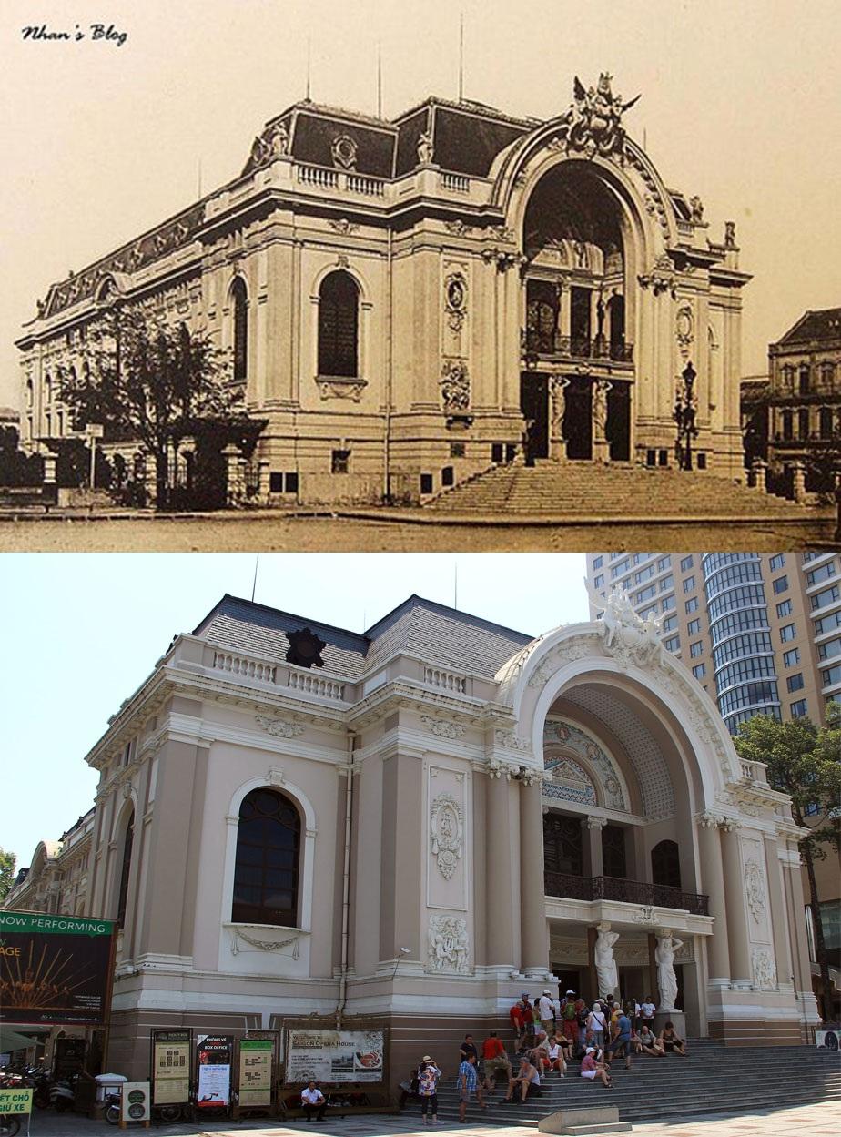 Nhà hát Lớn Thành phố do người Pháp xây dựng hoàn tất vào năm 1900. Đây là nơi trình diễn ca nhạc kịch cho Pháp kiều xem. Từ năm 1956, Nhà hát được dùng làm trụ sở Hạ nghị viện chế độ cũ. Từ sau ngày giải phóng, tòa nhà này trở lại đúng công năng của nó khi xây dựng, trở thành Nhà hát Lớn của người TPHCM.