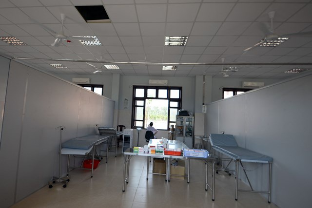 Khu vực khám chữa bệnh trong học viện