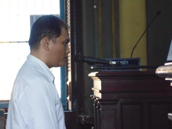Bị cáo Vinh tại phiên tòa xét xử phúc thẩm