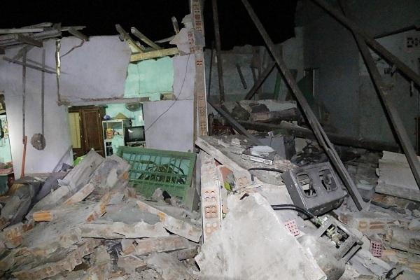 Căn nhà phát sinh vụ nổ đổ sập hoàn toàn