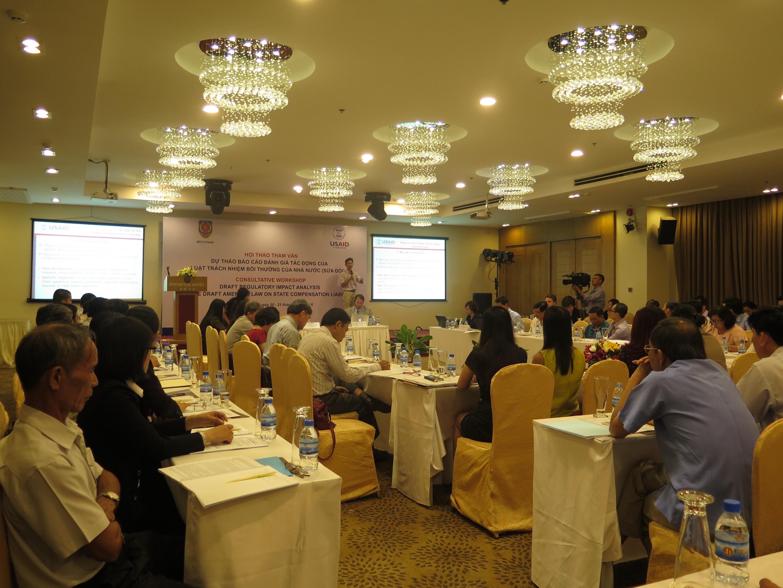 Hội nghị báo cáo đánh giá tác động của luật trách nhiệm bồi thường nhà nước diễn ra vào hai ngày 20-21/6.