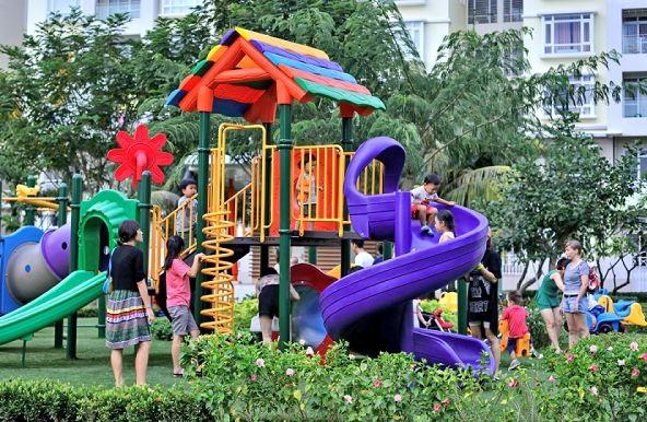 Trẻ em được khám phá thiên nhiên một cách thỏa thích khi đến Phú Mỹ Hưng