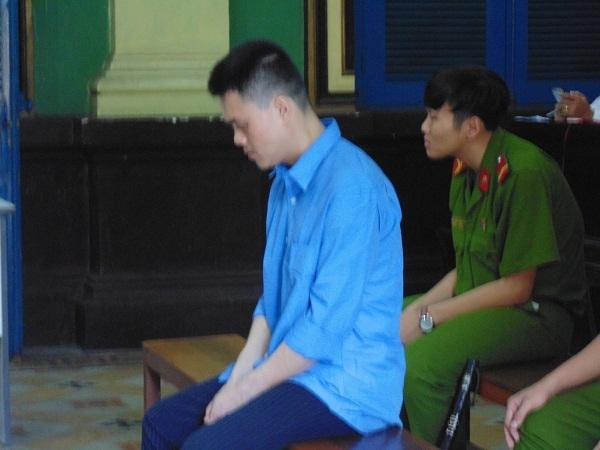 Bị cáo Linh tại tòa