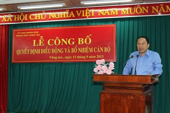 Ông Phan Hòa Bình, nguyên Chủ tịch UBND thành phố Vũng Tàu