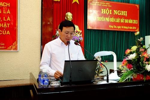 Ông Trương Văn Trí, nguyên Phó Chủ tịch UBND thành phố Vũng Tàu