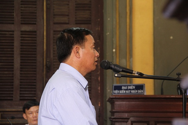 Bị cáo Huỳnh văn Hải tại tòa