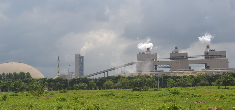 Một góc Nhà máy nhiệt điện Formosa tại huyện Nhơn Trạch