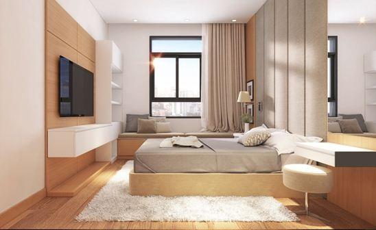 Hình phối cảnh phòng ngủ dự án Luxcity
