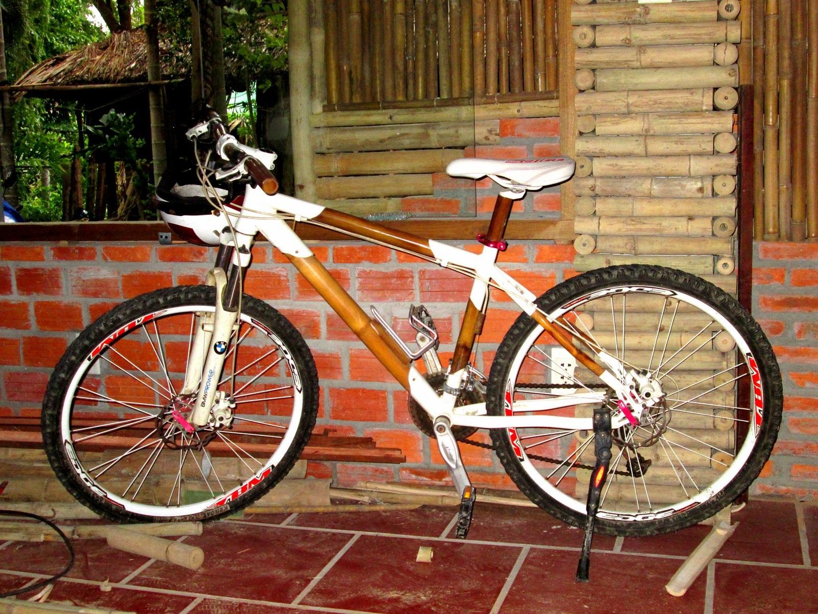 Không chỉ phục vụ du lịch, từ tre có thể làm ra những chiếc xe đạp phù hợp với mọi địa hình