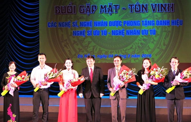Các nghệ sĩ ưu tú, nghệ nhân ưu tú của Đà Nẵng vừa được Chủ tịch nước phong tặng danh hiệu