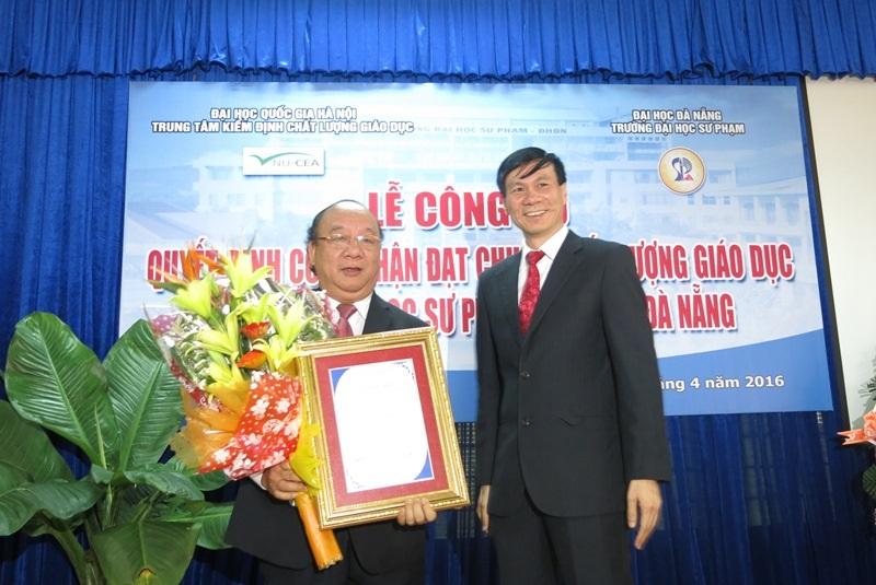 ĐH Sư phạm Đà Nẵng nhận quyết định công nhận đạt chuẩn chất lượng GD