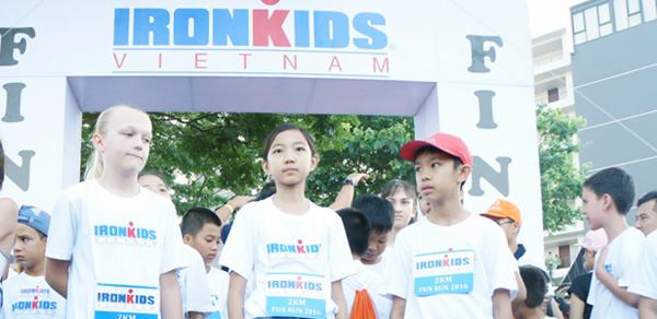 Nét mới của IRONMAN 70.3 năm nay tại Đà Nẵng là có cuộc thi dành cho các vận động viên nhí