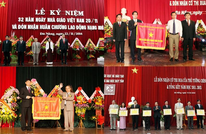 ĐH Duy Tân đã vinh dự nhận được nhiều bằng khen, cờ thi đua của Đảng và Nhà nước
