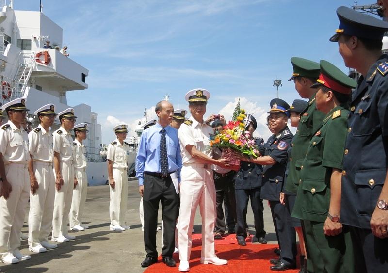 Lễ đón tàu được Đà Nẵng tổ chức trọng thể ngay tại cảng Tiên Sa