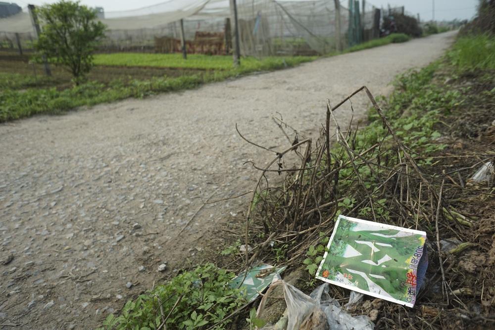 Vỏ bao bì một loại hạt giống cải nhập khẩu hoàn toàn không có tiếng Việt.