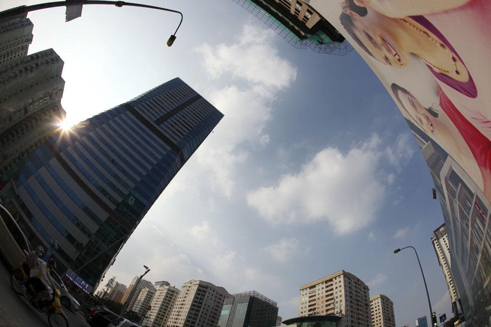 Góc nhìn từ đường Lê Văn Lương theo phương thẳng đứng.